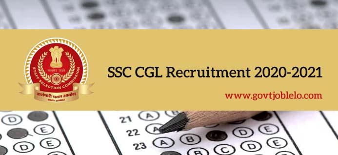 SSC CGL Recruitment 2020-2021