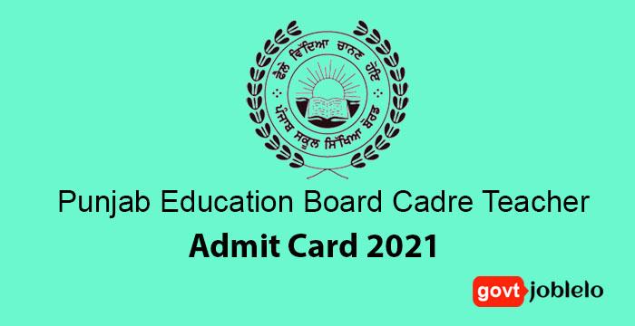 Punjab Education Board Cadre Teacher