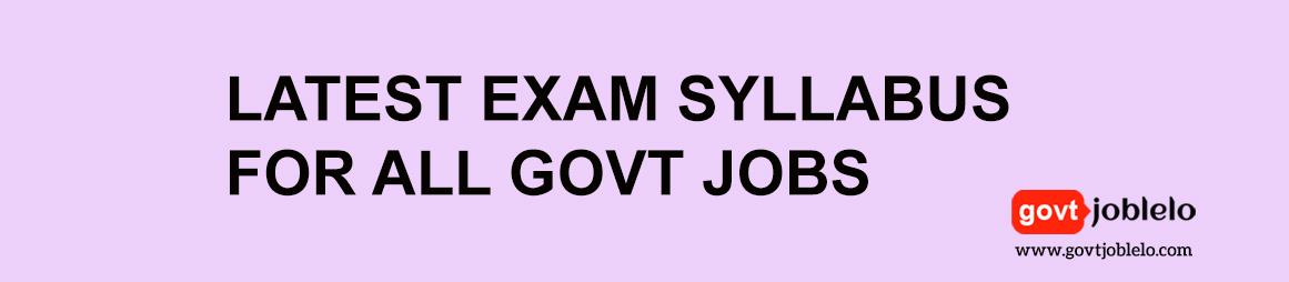 Latest Exam Syllabus