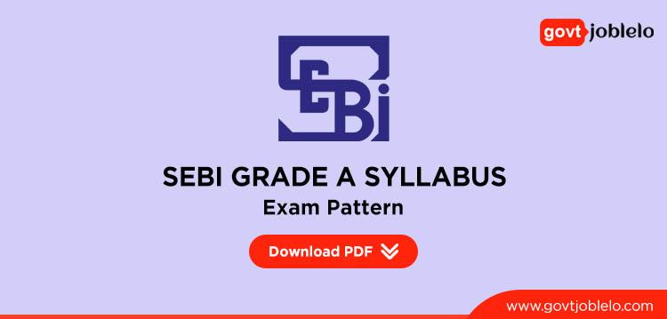 sebi grade a syllabus